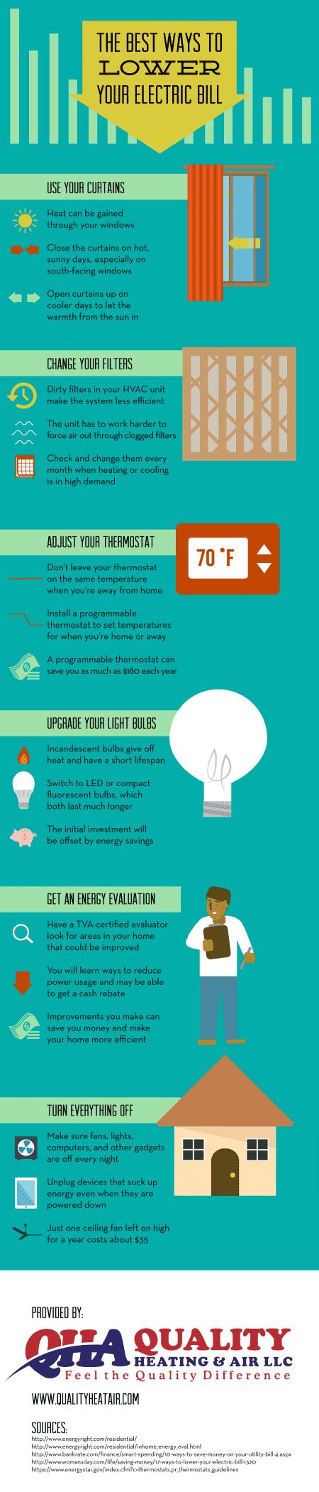 Ways to lower your electric bill in Murfreesboro, TN