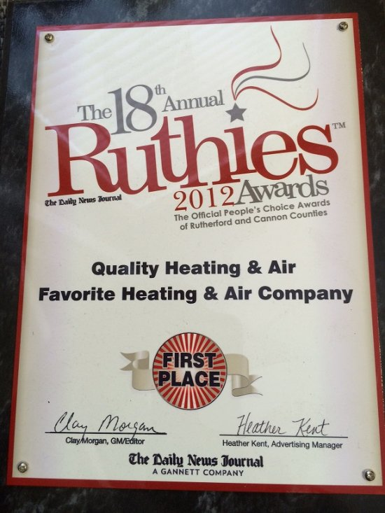 Ruthies 2012 Award in Murfreesboro