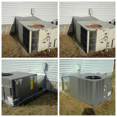 Before/after HVAC Fixes in Murfreesboro, TN